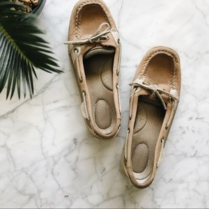 Sperry Top Sider Tan Leather Loafer Boat Shoes